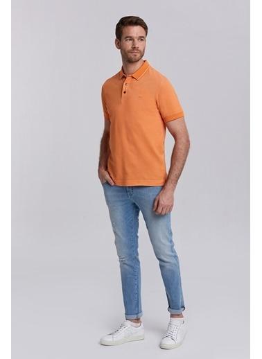 Hemington Pike Örgü Polo Yaka T-Shirt Oranj